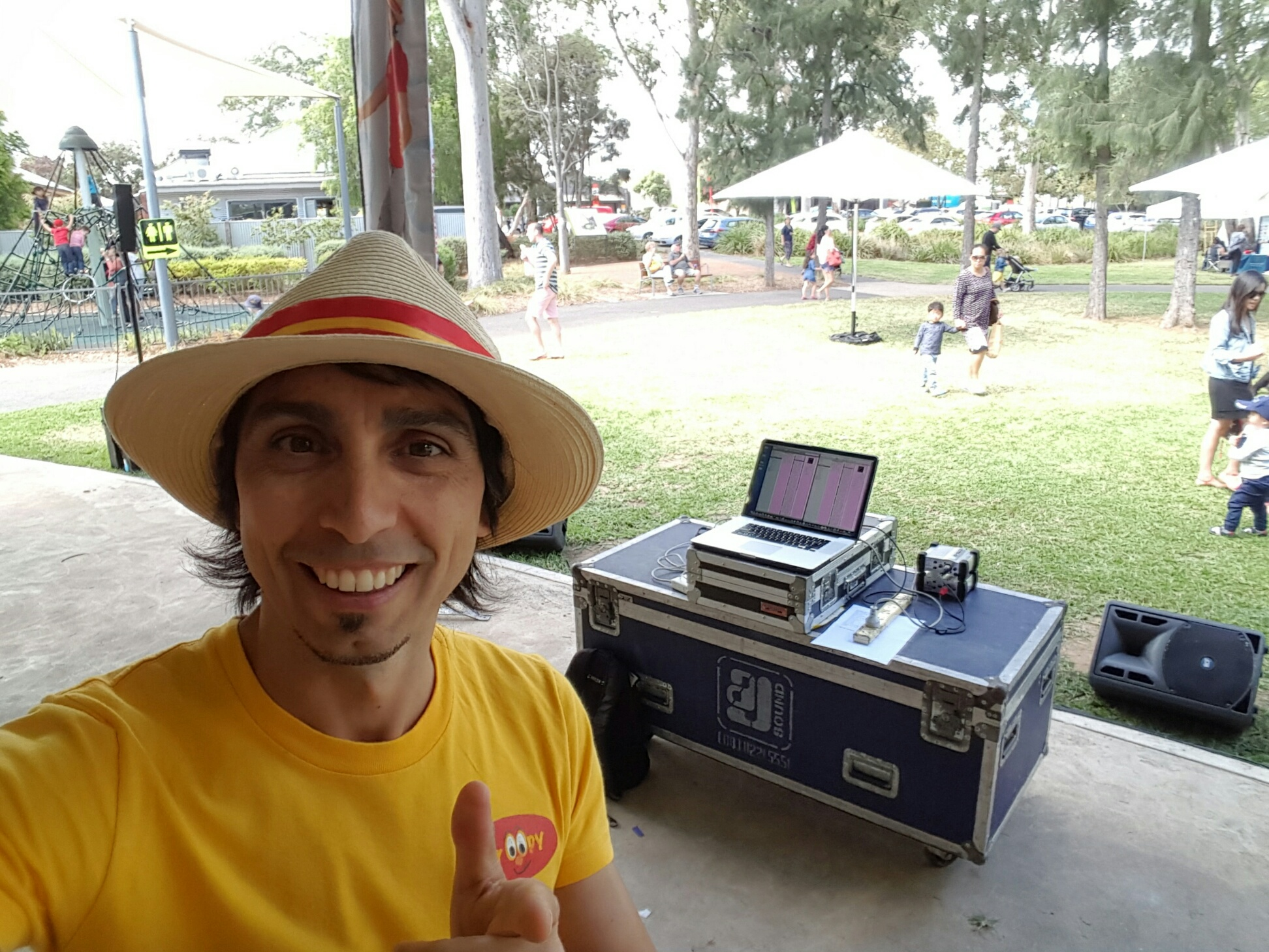 St Peters Fair Mr Oopy as DJ performing Pop Tunes