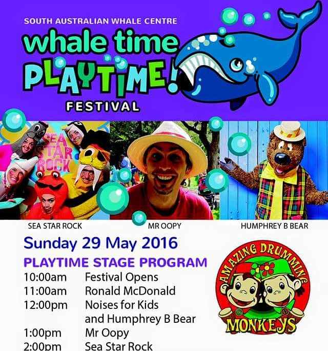 childrens entertainment adelaide whale time festival victor harbor
