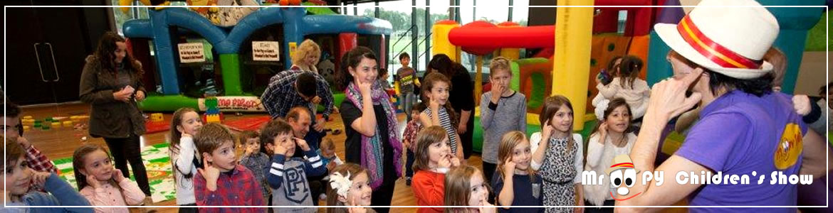 kids entertainment adelaide by Mr Oopy for Lucas 1st Birthday party