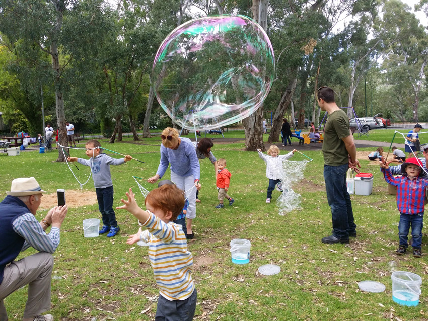 Childrens Birthday Party with Adelaide Bubble Man Mr Oopy kids entertainer