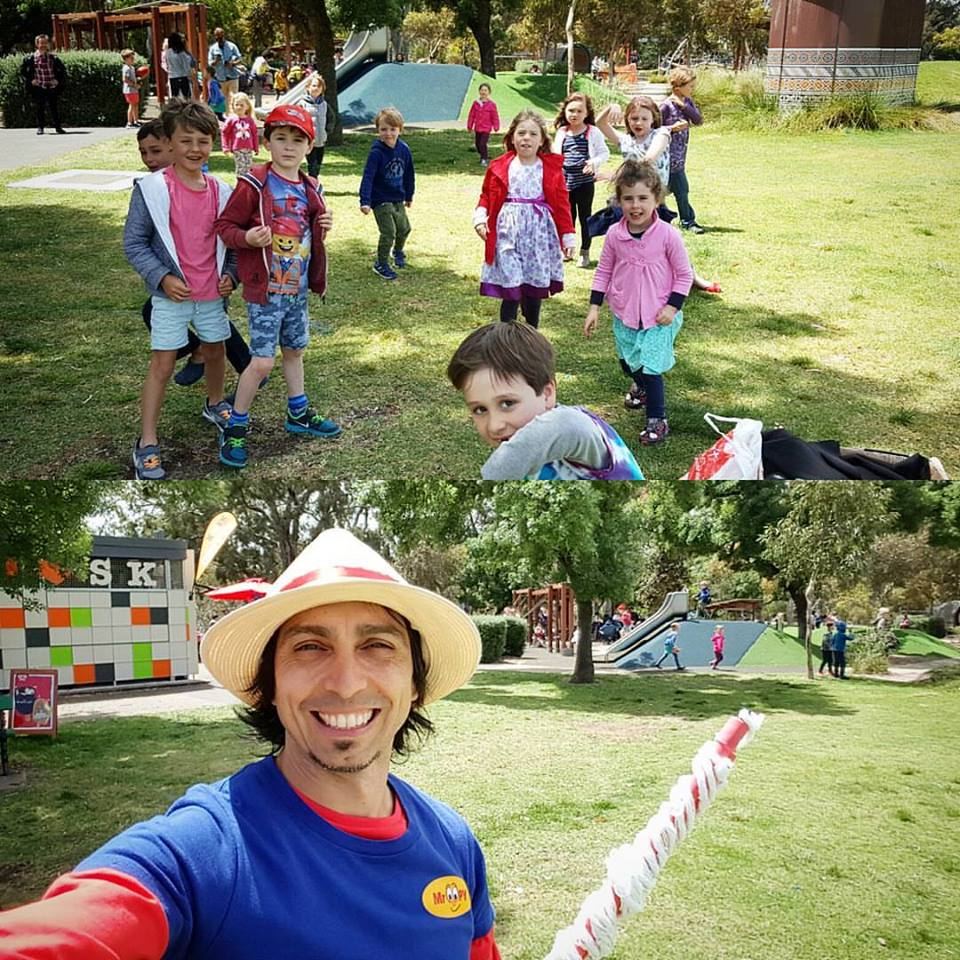 kids party entertainer adelaide bubble man school functions child care centre