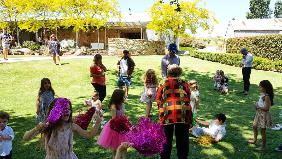 Howard Winery Adelaide Function venue birthday adelaide childrens bubble entertainer mr oopy
